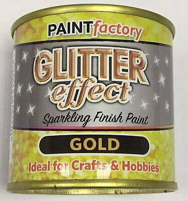 1 X Glitter Effect Gold Sparkling Finish Paint 125ml Can!! Craft And Hobbies • 5.99£