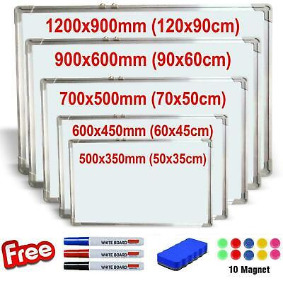 Magnetic Whiteboard Small Large White Board Dry Wipe Notice Office School Home • 18.95£