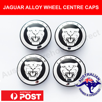 AU34.95 • Buy 4 X JAGUAR Alloy Wheel Centre Caps 59mm BLACK CHROME Fits All XJ XJR XF S X TYPE