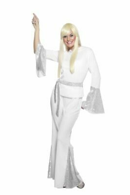 70'S DISCO LADY COSTUME LARGE | ABBA INSPIRED | Womens Fancy Dress Costume • 19£