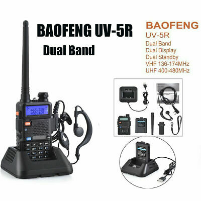 2019 BAOFENG UV 5R VHF/UHF Dual Band Two Way Ham Radio Walkie Talkie Transceiver • 18.95£