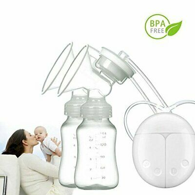 View Details Electric Breast Pump Mute Automatic Dual Breastpump Baby Infant Feeding With USB • 17.99£