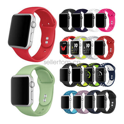 AU5.99 • Buy Sport Silicon Watch Band Strap For Apple Watch IWatch Series 5 4 3 2 40/44mm 42
