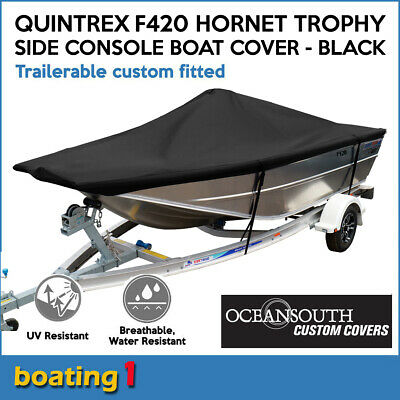 AU249 • Buy Quintrex F420 Hornet Trophy Side Console Trailerable Custom Fitted Boat Cover