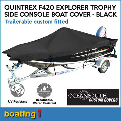 AU284.72 • Buy Oceansouth Custom Boat Cover For Quintrex F420 Explorer Trophy Side Console