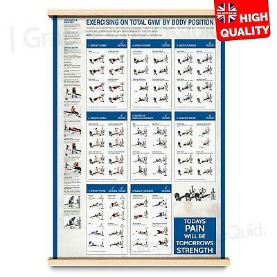 Full Body Bodybuilding Posters Total Body Exercise Charts | A4 A3 A2 A1 | • 2.99£