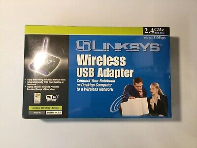 $8.95 • Buy New In Box Linksys Wireless-B Router, USB Network Adaptor,# WUSB11 Or (802.11b)