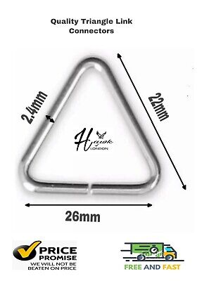 Triangle Link Connectors Key Ring Chain Split 26mm Nickle Jewellery Various Qnt • 14.99£
