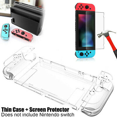For Nintendo Switch Dockable Case Cover + Tempered Glass Screen Protector Film • 7.99$
