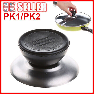 £3.69 • Buy Universal Pot Pan Cover Wok Knob Glass Handle Replacement Lid Stainless Steel