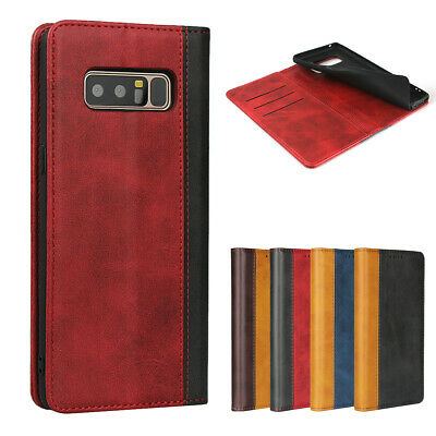 $ CDN12.56 • Buy Samsung Galaxy Note 8 Luxury Magnetic Two-tone Leather Wallet Flip Case Cover