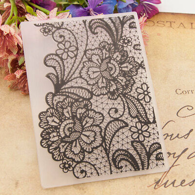 Lace Flowers Plastic Embossing Folders Template For DIY Scrapbooking Paper Craft • 2.59£