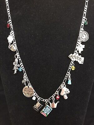 $32.95 • Buy ALICE IN WONDERLAND~NEW  Pandora  LIKE NECKLACE~19 CHARMS & BEADS~Great Gift!