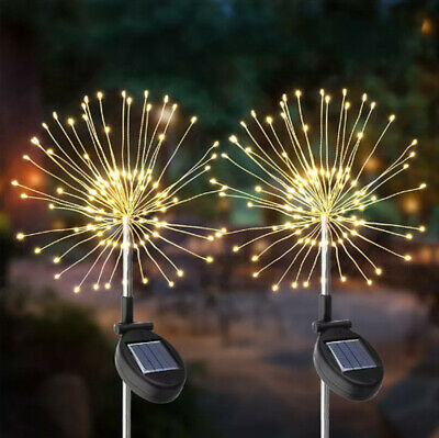 Solar Powered Firework Starburst LED Stake Light Garden Wedding Party Outdoor UK • 13.74£