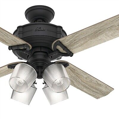 $139.95 • Buy Hunter Fan 52 Inch Traditional Natural Iron Ceiling Fan With LED Light Kit