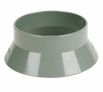 110mm Soil Pipe Vent Sleeve Roof Weathering Collar / Cover Weather Skirt - Grey • 6.65£