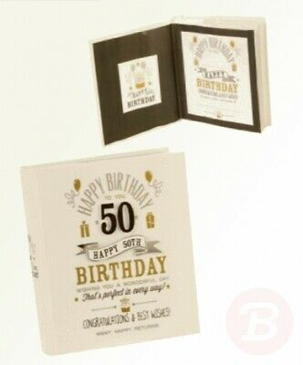 Signography 50th Birthday Photo Album 4x6 Black And Gold Design (FL29950) • 21.12£