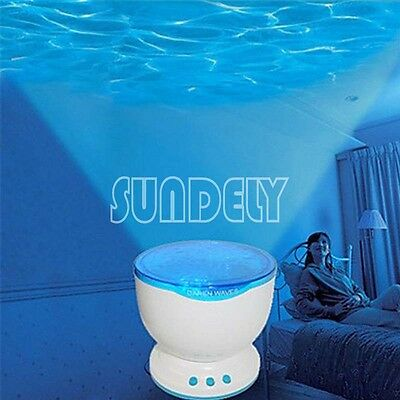 LED Light Projector Toy Calming Autism Sensory Relax  Night Music Projection NEW • 28.93£