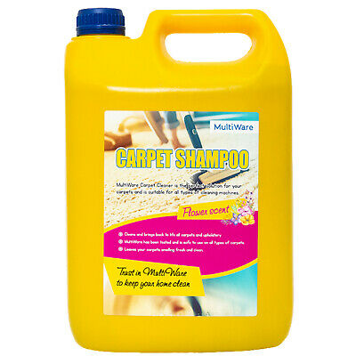 Multiware Carpet Shampoo Cleaner Cleaning Detergent 5l Odour Pet Deodoriser Vax • 10.35£