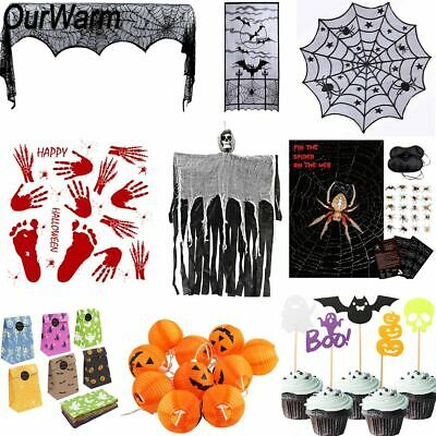 $3.54 • Buy Halloween Horror Props Spider Game Pumpkin String Light Lace Ghost Table Cover