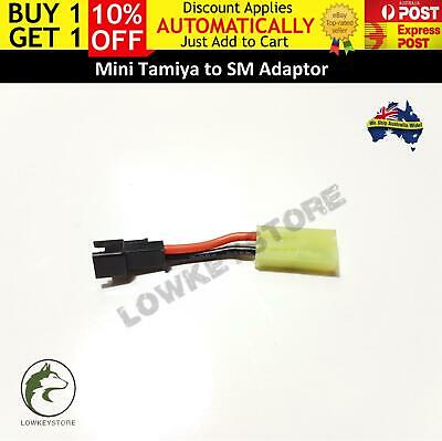 AU9.99 • Buy Mini Tamiya To SM Battery Adaptor Plug Gen 8 9 M4A1 Gel Blaster Toy Parts HK416