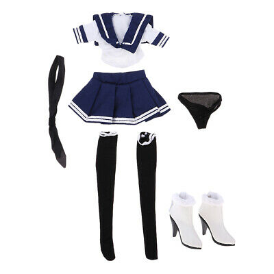 $32.34 • Buy 1/6 Schoolgirls Uniform + High Heel Shoes For 12  Phicen Hot Toys Enterbay