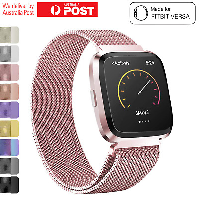 AU10.95 • Buy Fitbit Versa Watch Band Stainless Steel Milanese Loop Replacement Wrist Strap