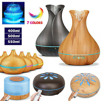 AU18.59 • Buy Aroma Aromatherapy Diffuser LED Essential Oil Ultrasonic Air Humidifier Purifier