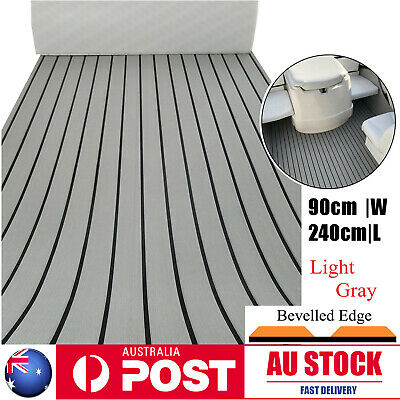 AU74.99 • Buy Gray Adhesive Marine Flooring Faux Teak EVA Foam Boat Yacht Decking Sheet Pads