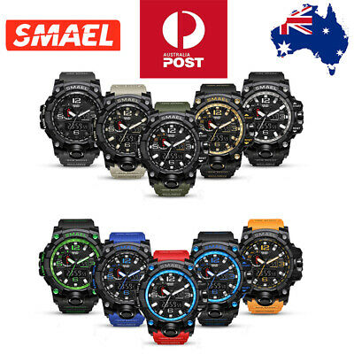 AU20.99 • Buy SMAEL Watch Waterproof Sports Military Shock Men's Analog Quartz Digital Watches