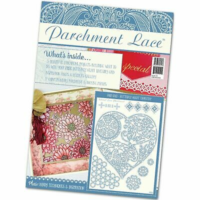 Parchment Lace Magazine Issue 4 Free Buttefrfly Heart Tapestry Grid - Bnip • 6.99£