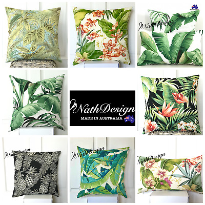 AU25.50 • Buy Tommy Bahama / Richloom Indoor/Outdoor Tropical Palm Leaves Cushion Covers