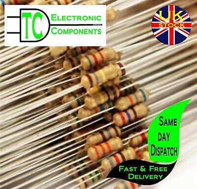 $1.72 • Buy 1/4W 0.25W Carbon Film Resistors 5% Many Values Available (sold In Packs Of 20)