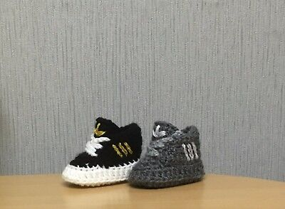 Handmade Crochet Baby First Shoes Trainers Casual Boots Slippers Unisex • 4.99£