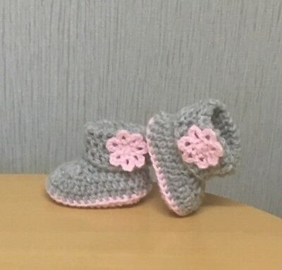Handmade Crochet Baby First Shoes Booties Wool Casual Boots Slippers  • 3.99£