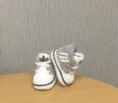 Handmade Crochet Baby First Shoes Casual Baby Boots Slippers Trainers Unisex  • 5.99£