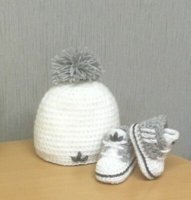 £11.80 • Buy Handmade Crochet Baby First Shoes Hat Casual Baby Boots Slippers Trainers Unisex