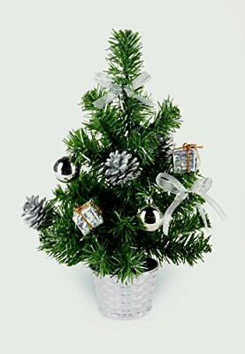 30cm Dressed Table Top Christmas Tree - SILVER • 5.50£