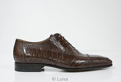 Moreschi Men's Brown Leather Lace Up Shoe Legs New In Box  • 293.67£