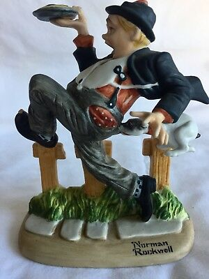 $ CDN11.84 • Buy Norman Rockwell Caught In The Act Porcelain Figurines  From The Danbury Mint1980