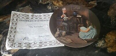 $ CDN20 • Buy Norman Rockwell   The Storyteller  Collectable Plate With Authenticity Paper