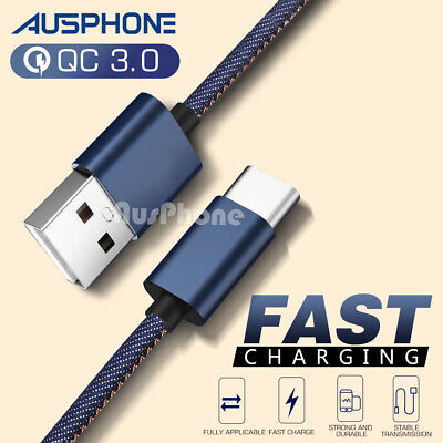AU7.99 • Buy Gaming USB Type-C Fast Charging Cable For SAMSUNG GOOGLE OPPO A5 A9 A52 A53 A53s