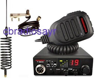 Thunderpole T-800 AM/FM CB Radio, Flat Bar Mirror Mount Kit & Large Springer • 89.50£