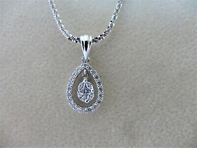 $350 • Buy  0.37 Ctw Round,Marquise And Princess-Cut Diamond  18k White Gold Chain Necklace