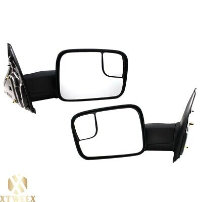 $117.80 • Buy Left+Right Side Manual Towing Mirror For 02-08 Dodge Ram 1500 03-09 2500 3500