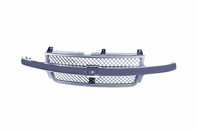 $141.42 • Buy Black Grille W/Chrome Bar Molding For 01-02 Silverado Pickup Truck 2500 HD 3500