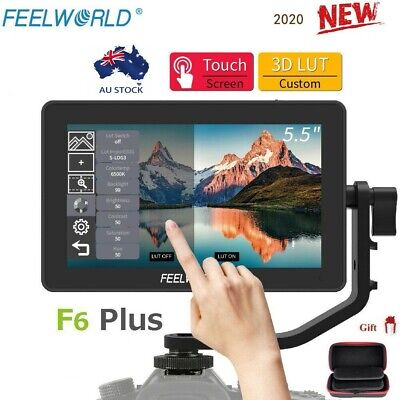AU245 • Buy Feelworld F6 Plus 5.5  4K HDMI Touch Screen 3D LUT Type-C Camera Video Monitor