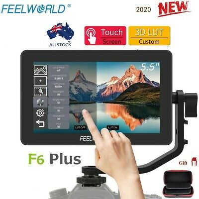 AU247 • Buy Feelworld F6 Plus 5.5  4K HDMI Touch Screen 3D LUT Type-C Camera Video Monitor