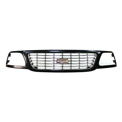$128.78 • Buy Black Grille W/Chrome Insert Assembly Replacement For 01-03 Ford F150 Lightning
