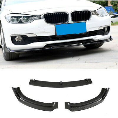 AU295.85 • Buy Carbon Look ABS Front Bumper Lip Splitter For BMW F30 F35 320i 328i Sedan 13-18